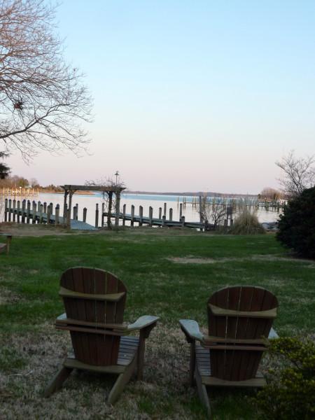 Back Creek Inn sunset view
