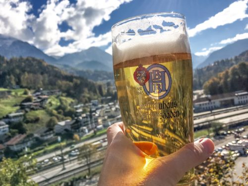 Berchtesgaden- beer with a view