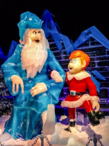 Holidays at the National Harbor- Ice Display 2